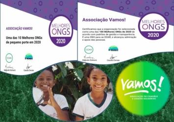Associação Vamos! reconhecida como uma das 10 melhores ONGs de pequeno porte do Brasil