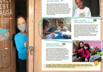 Entrevista de David, criança do projeto Vamos! foi publicada na revista infantil -