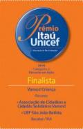 Selo do prêmio itaú unicef 2018